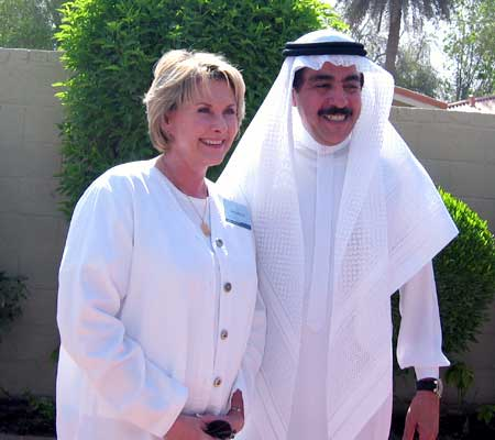 Donna Reichel and Mustafa Jalali