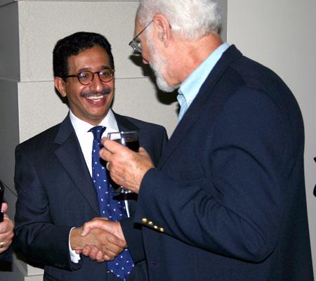 Jamil Al-Dandany (ASC) greeting Bill Tracy