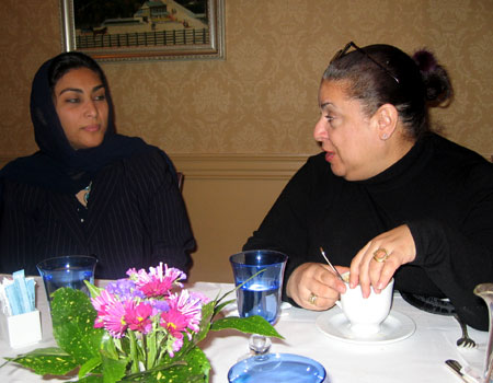 Nora Boustany and Nimah