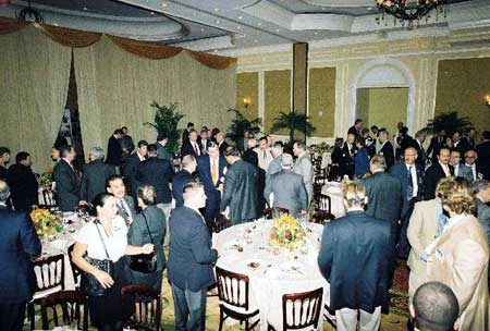 Guests in Dining Room after Lunch