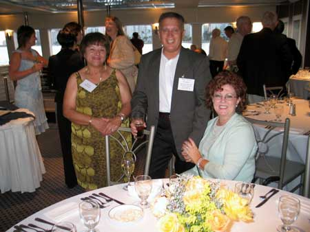 Denise Roussell, Tim (Tavy) Sandin and Mrs. Sandin