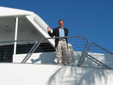 David Bosch aboard Biscayne Lady
