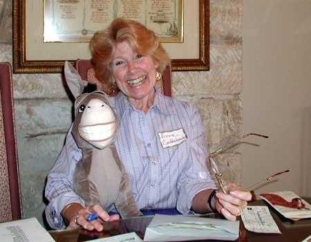 Anne Cudd with a Friend