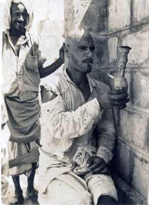 Saudi Man Smoking