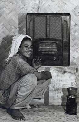 Saudi Boy with Old Radio