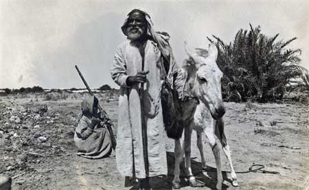 Saudi Man with Donkey