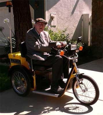 """Nestor """"Sandy"""" Sander Rides His """"New Transportation"""""""