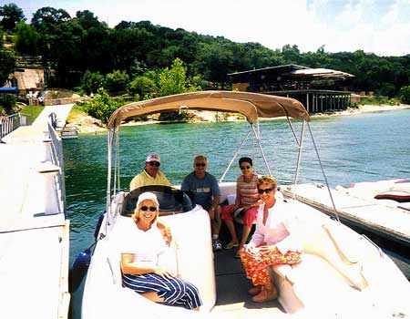 Boating with Friends in Austin, Texas