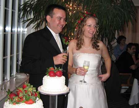 Claire Lindsay and Tony Mello Toasting