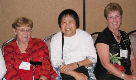 Helen Geerhold, Isabel Lee and Karen Rhodes