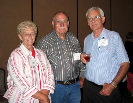 Louise White, Charlie White, and Ed Rhodes