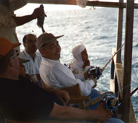 Ras Tanura fishing trip with Emir Salah - Overnight Pearling