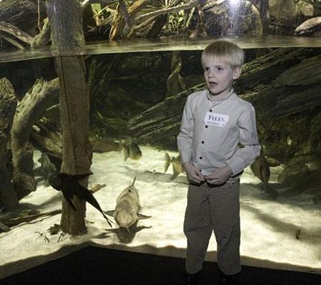 Kids enjoy the underwater view