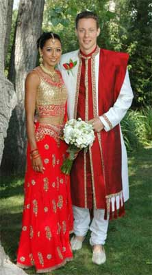 Bride and Groom - Sabina Mehta and Joseph Nagle
