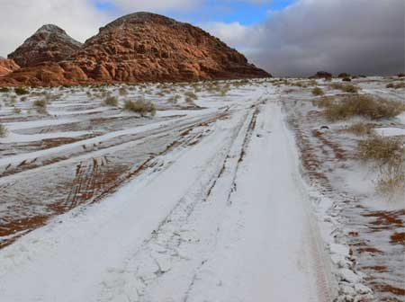 Snow Storm in Tabuk