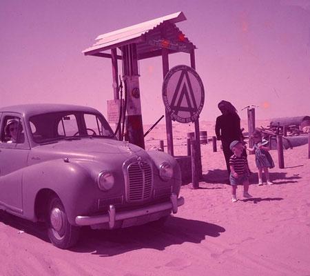Gas Station in Saudi Arabia, 1950s