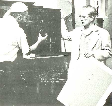 Adjusting the Lens of a 31-inch Map Camera