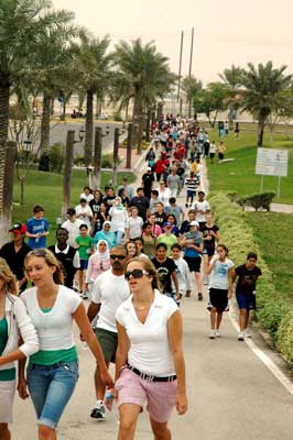 Dhahran Middle School Walkathon