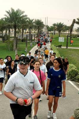 Whole Middle School Walking