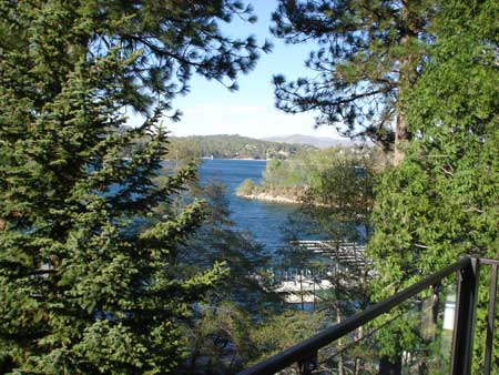 View of Lake Arrowhead from the Yacht Club