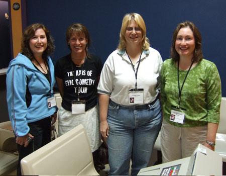 Sharon Edwards, ?, Charlene Maise, and Mary Beth Edwards Kinney