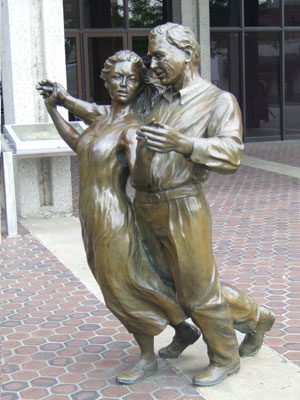 Statues in Front of Asheville Civic Center