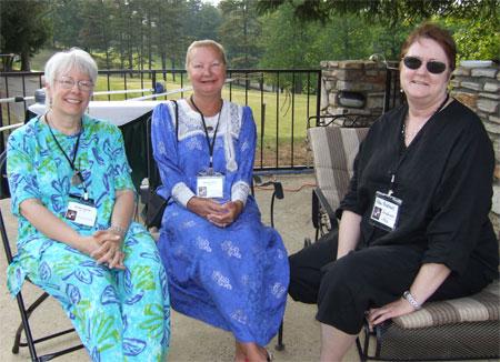 Sandra Gelinas, Deborah Elliott, and Abby Andrews