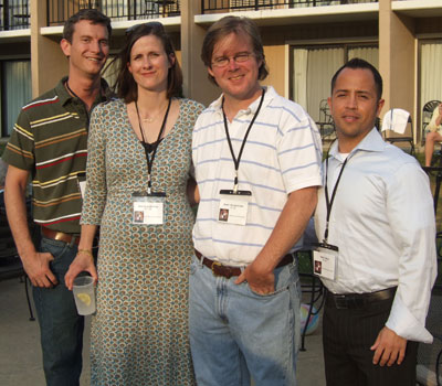 Rusty Swayne, Alice Homolka Tate, Grant Hundertmark, and Ralph Baca
