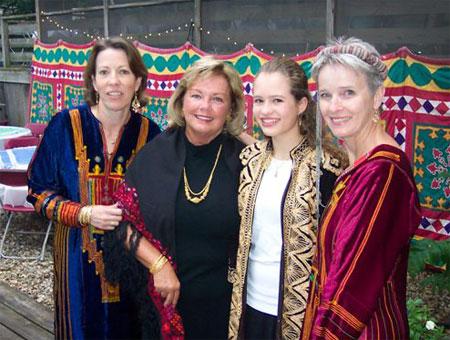 Julie Johansson Doody, Sheila Stevens, Rachel Hannusch (?), Kay Taylor