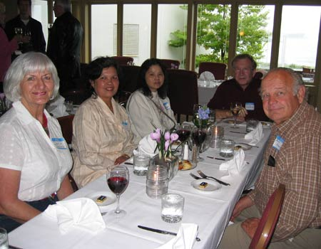Doris Jarvis, Siriwan Young, Ting Readshaw, Dick Readshaw and Ron Young