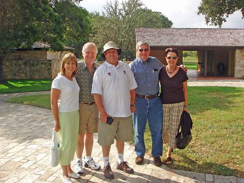 Judy and Bill Walker, George Merrin, Fred and Martha Goff.
