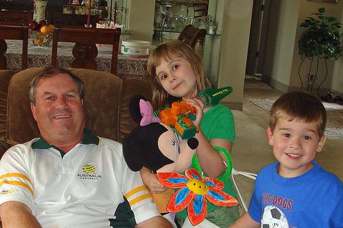 George Merrin and the kids