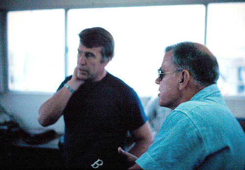 John Weabee  and Henry Cook in the control room Rowan Alaska 1979