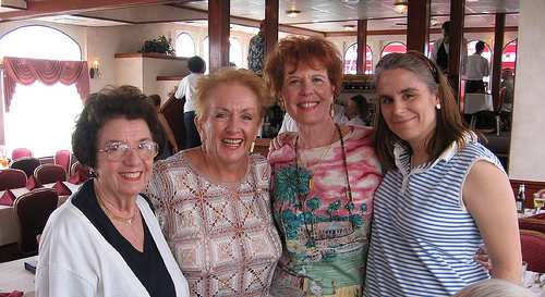 Dotty Steinheimer, Ann Kennedy, Judy Butler, and Michelle Butler