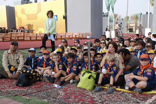 Dhahran Cub Scouts at the King's Visit