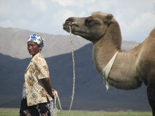 Woman With Camel