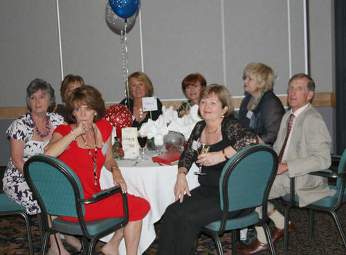 Table 2 - Pamela Vizor, Lesley Williams, Linda Powell, Karen Jennings, Tricia Ryan, Jean Sullivan, Judy Enright & Graham Vizor.