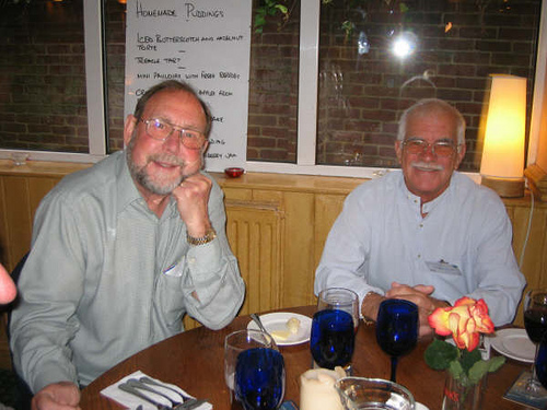 Bob Nickson & Michael Gaynor at The Beehive Inn for dinner on the Thursday evening.