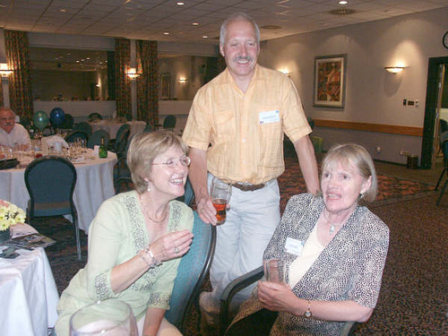 Ann & Martin Wingrove & Lois Marsh after the Reunion dinner.