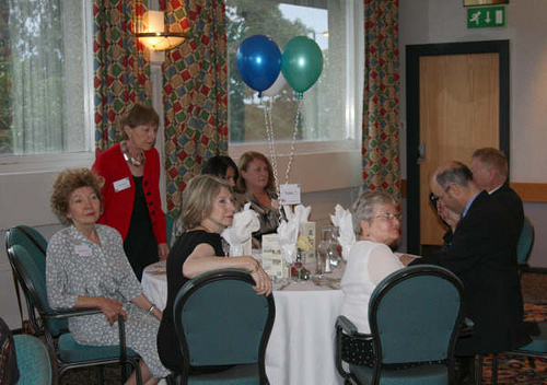 Table 7 – Barbra Pearce, Sylvia Mercer, Rita Gunshon, Carla Cressy, Julie Newman, Joan Adams, Paul Bamber & Michael Carr.
