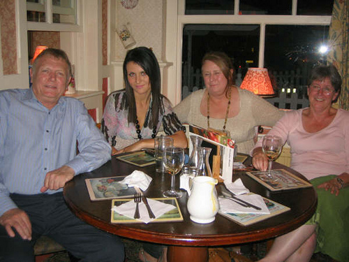 Michael Carr, Carla Cressy, Julie Newman & Penny Walker at the Old Windsor, Toby Restaurant in Old Windsor.