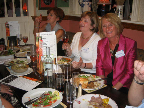 Tricia Ryan, Jean Sullivan & Karen Jennings at Old Windsor Toby Restaurant.