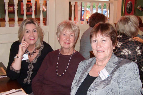Terry Farrell, Sylvia Bertie & Margaret Wheeler at the Old Wndsor Toby Restaurant.
