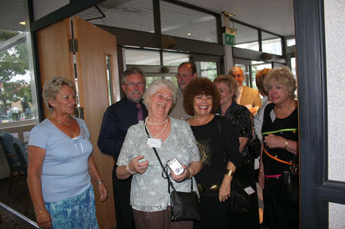 Eileen & Tom, May Brown, Sue Clanchy & Jill Turner with Bob & Ann Nickson & Douglas Golder in the background.