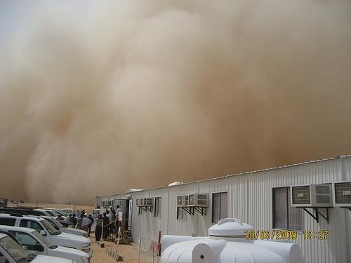Sand Storm in Khurais (4)