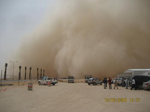 Sand Storm in Khurais (5)