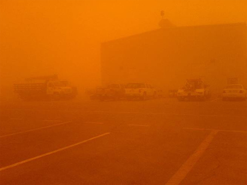 Sand Storm at Pump Station-3