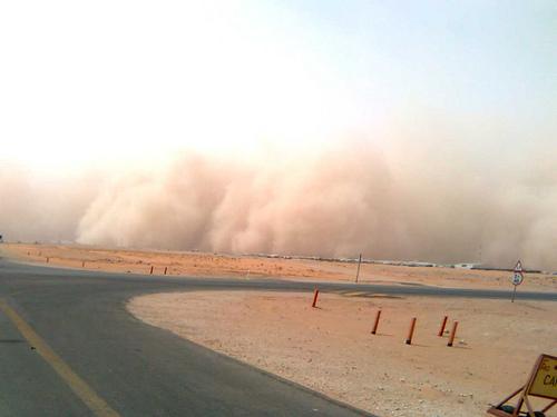 Sand Storm in Khurais