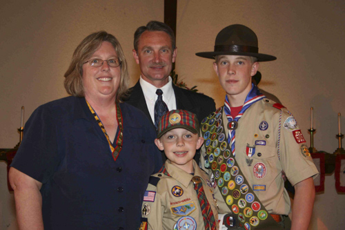 Kyle Mailhot Honored at Boy Scout Eagle Court