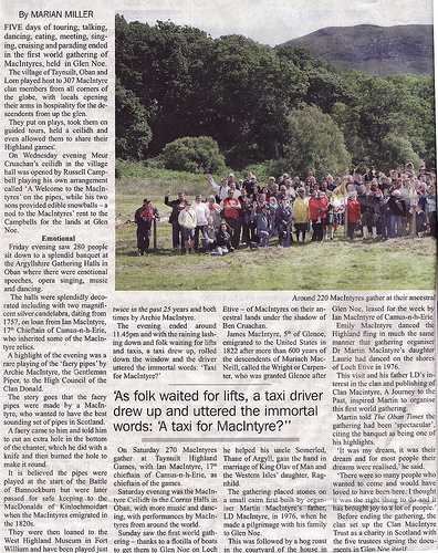Oban Times Article
